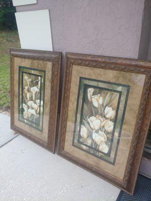 Matching floral framed art for Sale in Tarpon Springs, FL