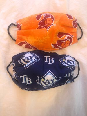 TAMPA BAY RAYS &. TAMPA BAY BUCS FACE MASKS for Sale in St. Pete Beach, FL