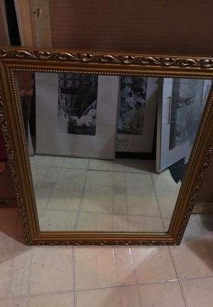 Gold framed wall mirror for Sale in Rose Valley, PA