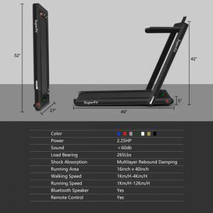 2-in-1 Folding Treadmill with Bluetooth Speaker LED Display for Sale in Los Angeles, CA