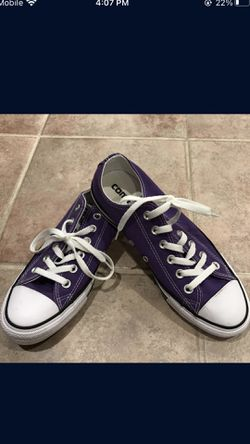 New! Converse Purple Sneakers Women's 8, Men's 6 for Sale in Chicago,  IL