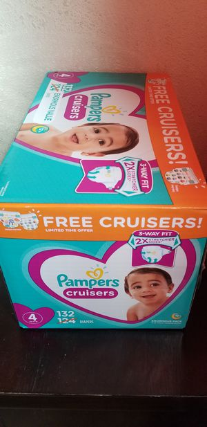 Pampers cruisers size 4 132 daipers $34 firm price for Sale in Los Angeles, CA