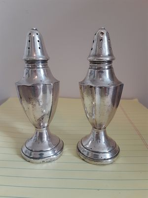 Rare 503 Sterling Silver Weighed Salt & Pepper Shakers for Sale in Inwood, WV