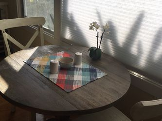 Solid Acacia Wood Round Drop Leaf Table for Sale in Long Beach,  CA