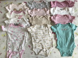 12 pieces baby onesies size 0-3m for Sale in South Riding, VA
