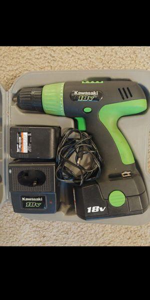 Kawasaki 18 Volt Cordless Drill Set 18v for Sale in Kenmore, WA