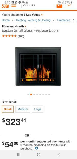 Easton Black Firescreen Small Fireplace Glass Door for Sale in Las Vegas, NV