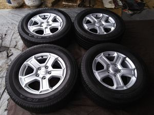 P265/60/R17 GOODYEAR EAGLE LLANTAS CON RINES DE JEEP GRAND CHEROKE RUBICON WRANGLER COMANDER for Sale in Avondale, AZ