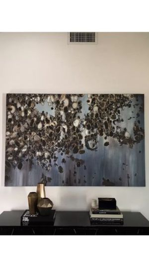 """72 x 48 Abstract Painting by Leftbank Art """"Meteor Shower"""" for Sale in Los Angeles, CA"""