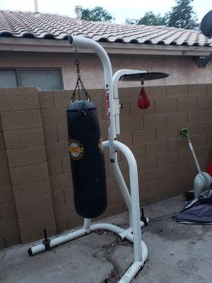 Punching bag , speed bag stand for Sale in Sun City, AZ