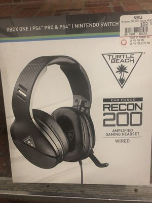 Turtle beach Recon 200 wired headset. Xbox one and PS4 for Sale in Upper Darby, PA
