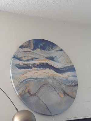 Round blue painting for Sale in San Luis Obispo, CA