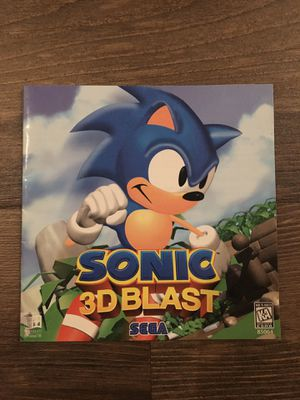 Sonic 3D Blast Manual for PC for Sale in Brentwood, CA