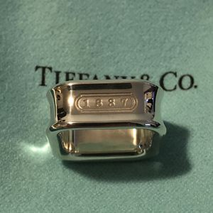 Authentic Tiffany & Co. 1837 cushion ring sterling silver for Sale in Queens, NY