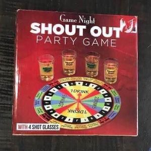 Adult Shout Out Party Game with 4 Shot Glasses just $5 for Sale in Port St. Lucie, FL
