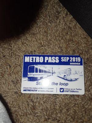 September NFTA Bus Pass for Sale in Buffalo, NY