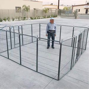 New in box 48 inch tall x 32 inches wide each panel x 16 panels exercise playpen fence safety gate dog cage crate kennel perrera cerca for Sale in San Dimas, CA