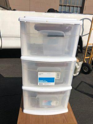 3 drawer Plastic shelf for Sale in Garden Grove, CA