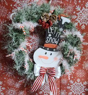 Snowman wreath for Sale in Glendale, AZ