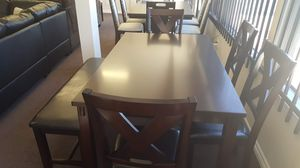 New dining set on sale with bench perfect for holidays for Sale in Rialto, CA