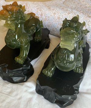 Pixiu Jade Sculpture Art Statue for Sale in San Diego, CA