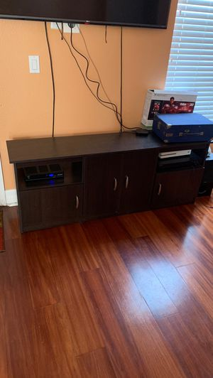 TV Stand - Dark Brown for Sale in Tampa, FL