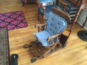 Antique high chair rocker for Sale in Wenatchee, WA
