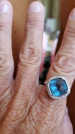 Beautiful silver blue topaz ring for Sale in Reynoldsburg, OH