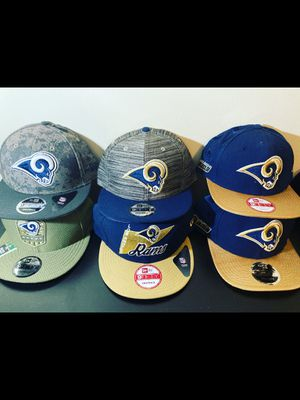 Rams hats $25 each for Sale in Hesperia, CA