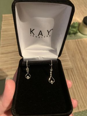 Kay Jewelers diamond and white gold earrings for Sale in Arnold, MO