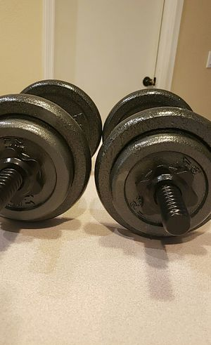 40lb Adjustable Dumbbell Weights - Pair for Sale in Gilbert, AZ