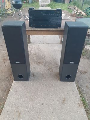 300 watts Yamaha receiver with remote control and Sharp CD player with remote control plus Sony tower Speakers for Sale in Washington, DC