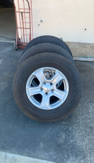2018 jeep wrangler sport wheels and tires for Sale in Temecula, CA