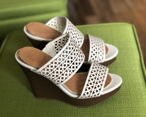 Wedge high heels sandals - size 5.5