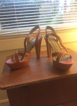 Jessica Simpson coral-colored platform sandals for Sale in Seattle, WA