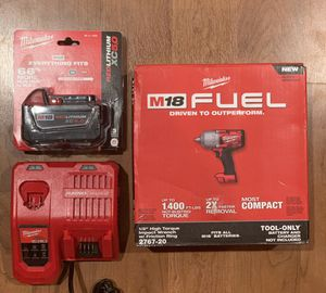 MILWAUKEE BUNDLE 1/2 IMPACT WRENCH W/RAPID CHARGER 🔌 AND 5.0 BATTERY 🔋 for Sale in Pico Rivera, CA