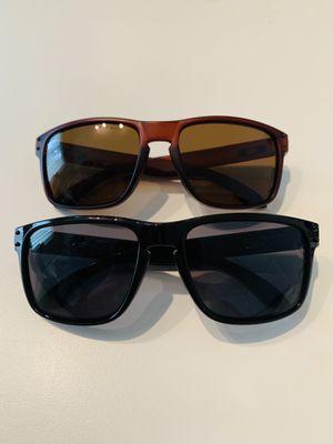 Men's Motocross Sports Baseball Fishing Generic Sunglasses Black & Brown Frame Dark Lens Frame 2 PAIRS * NEW* for Sale in Marysville, WA