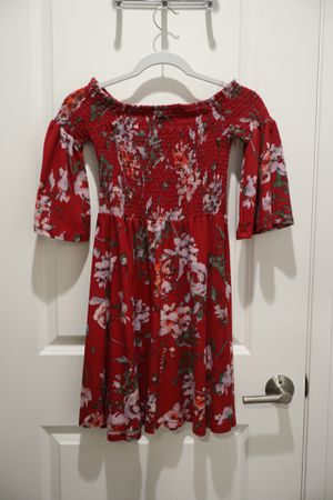 Size M new red flower summer dress occasion wedding birthday lady girl student for Sale in Arlington, VA