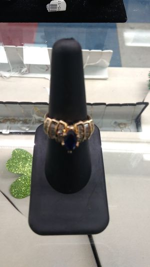 Size 8 women's sapphire diamond ring for Sale in Fargo, ND