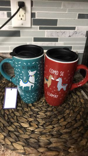 Coffee cups with beautiful design set of two for Sale in Elizabeth City, NC