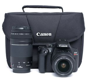 CanonEOS Rebel T6 DSLR Camera with 18-55mm and 75-300mm Lenses Kit for Sale in Las Vegas, NV