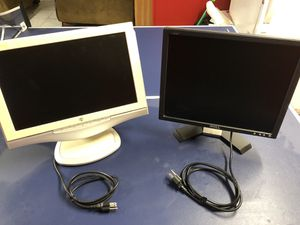Two computer monitors. ( 1 Dell, 1 Westinghouse ) for Sale in Worthington, OH