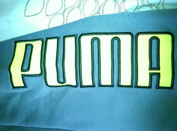Grey and Yellow PUMA Hoodie