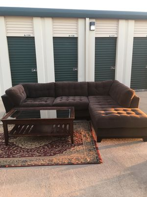 Sectional couch with Coffee table & Rug Free Delivery 🚚 for Sale in Katy, TX