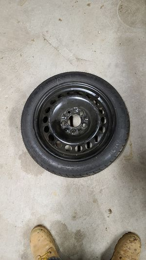 "15"" Spare Tire Donut wheel + new tire (T125/70D15) 5 bolt for Sale in North Haven, CT"