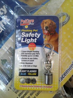 Safety lights for dog collar for Sale in Fresno, CA