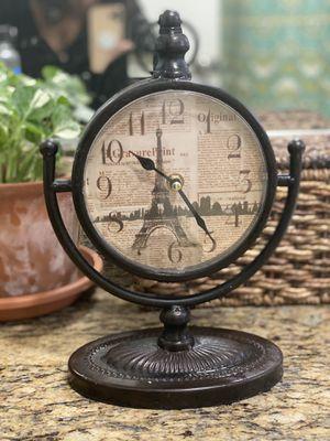 Paris Eiffel Tower clock decor for Sale in Whittier, CA