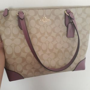 Coach Zip Top Light Brown/Purple for Sale in Rock Island, IL