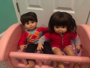 American girl baby twin dolls for Sale in Burlington, NJ