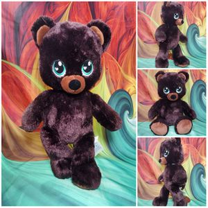 "Build A Bear Dark Chocolate Brown Teddy Sweet Scent BAB Plush 17"" Big Blue Eyes for Sale in Hallettsville, TX"
